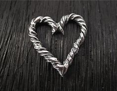 Twisted Artisan Sterling Silver Heart Charm by VDIJewelryFindings, $10.80