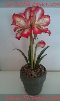 Amaryllis flower making tutorial gumpaste flower tutorial