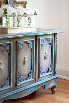 Painted Furniture Shaded with Tinted Wax