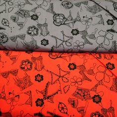 Alexander Henry - Fashionista Frills - Lingerie Print on Etsy, $2.00