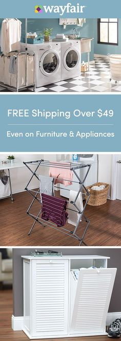 Sign up for access to exclusive sales, all at up to 70% OFF! Get your laundry room in tip-top shape with everything you need for a squeaky-clean laundry room. From organization to updated fixtures and more, you can get it all at the best price possible and in a style you love. To top it off, we're offering FREE shipping on all orders over $49.