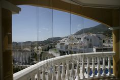 Balcony glazings and glass terraces Opera House, Terrace, Building, Beautiful, Enclosed Porches, Small Backyards, Ceilings, Blinds, Houses