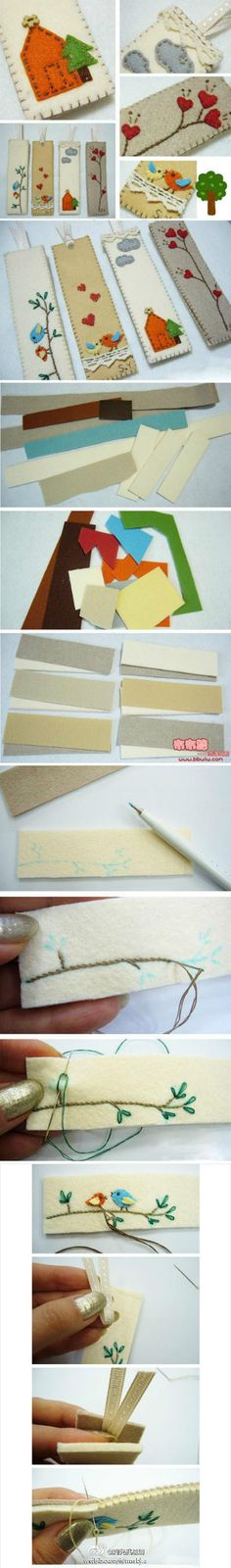 bookmarks....if only I had talent....these are adorable!!  Instructions look step by step - but written in Japanese (?)
