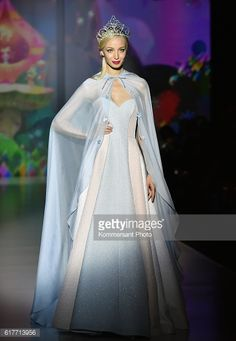 MOSCOW, RUSSIA - OCTOBER 23: A model presents a creation by... #dvor: MOSCOW, RUSSIA - OCTOBER 23: A model presents a creation by… #dvor