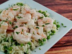 Sauteed shrimp are smothered in a white wine, garlic, and cream sauce and served over rice, couscous, or steamed vegetables.    CDKitchen.com