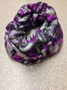 Fuchsia purple and grey women's infinity scarf by mgnaffziger