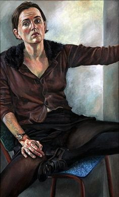 Deborah Poynton's Model for a World exhibition, at The New Church Gallery 13 May - 26 July 2014  Self-portrait with Fur Collar