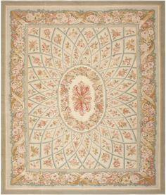 Aubusson Rug | Modern Chinese Carpet | 44690 by Nazmiyal