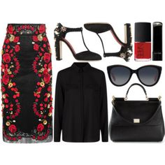 A fashion look from April 2015 featuring long-sleeve crop tops, floral skirts and black pumps. Browse and shop related looks. Boho Fashion, Fashion Beauty, Fashion Outfits, Fashion Design, Fashion Trends, Fashion Finder, Fashion Sets, Fall Fashion, Polyvore Outfits