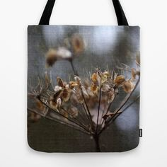 """Winter Flower Tote Bag by gunadesign - $22.00 Tote Bags are hand sewn in America using durable, yet lightweight, poly poplin fabric. All seams and stress points are double stitched for durability. They are washable, feature original artwork on both sides and a sturdy 1"""" wide cotton webbing strap for comfortably carrying over your shoulder."""