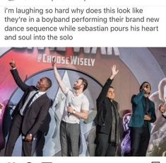 Sebastian Stan and Anthony Mackie are two of the funniest actors in the MCU. They portray the roles of Falcon and Winter Soldier in the Marvel movies, respectively. Marvel Jokes, Avengers Memes, Marvel Funny, Marvel Dc Comics, Avengers Imagines, Sebastian Stan, Marvel Universe, Dc Memes, Funny Memes