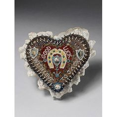 From a museum, 1600 pincushion heart by therusticvictorian, via Flickr