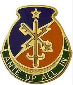 Special Troops Battalion, 1st Brigade Combat Team, 34th Infantry Division Unit Crest (Ante Up All In)