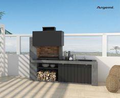 Outdoor Grill Island, Outdoor Barbeque, Outdoor Cabana, Barbecue Area, Garden Wall Designs, Backyard Garden Design, Small Backyard Landscaping, Modern Outdoor Kitchen, Build Outdoor Kitchen