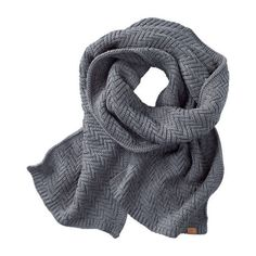 Zig-Zag Knit Winter Scarf (€44) ❤ liked on Polyvore featuring accessories, scarves, knit scarves, zig zag scarves and knit shawl
