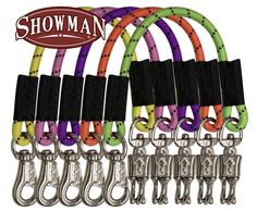 """Showman ® 24"""" bungee trailer tie with quick release panic snap and heavy duty bull snap"""