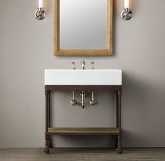 Dutch Industrial Console - OK This is fun! Another option for your adorable powder room.