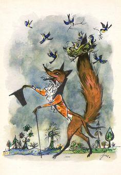 "Original book illustration - A4 matted - ""Roguishness Fox Vitalis"" - children's…"