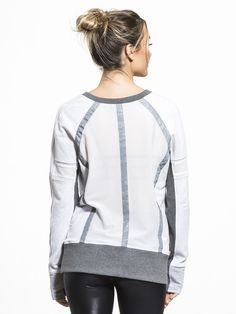 Mesh Mix Pullover Sweatshirts in Ash Heather by Blanc Noir from Athleisure, Hooded Jacket, Sports Tops, Athletic, Pullover, Sweatshirts, Jackets, Fashion, Jacket With Hoodie