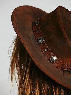 Buffalo Nickel Leather Hat