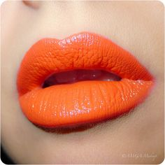 make-up, lips, lipstick, orange
