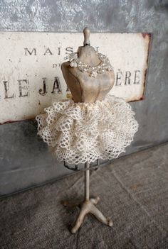 Mannequin with tutu 1:12 by ParisGreyMinis on Etsy