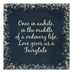 Wedding Invitations with Love Quote #wedding #invitations