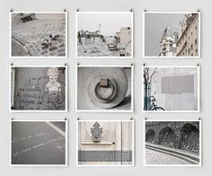 Paris in Gray.  Fine Art Photography Collection by Little Brown Pen.    The Paris in Color collections celebrate the city's intimate details, often overshadowed by iconic landmarks. The photographs offer candid glimpses of the thoughtful craftsmanship, pedestrian pleasures and gracefully worn textures that cumulatively capture the unmistakable charm of Paris.