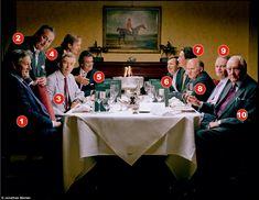 The assembled: (from left to right) 1. James Graham, 8th Duke of Montrose; 2. David Manners, 11th Duke of Rutland; 3. John Seymour, 19th Duke of Somerset; 4. Ralph Percy, 12th Duke of Northumberland; 5. Andrew Russell, 15th Duke of Bedford; 6. Edward Fizalan-Howard, 18th Duke of Norfolk; 7. Torquhil Campbell, 18th Duke of Argyll; 8. Maurice FitzGerald, 9th Duke of Leinster; 9. Murray Beauclerk, 14th Duke of St Albans; 10. Arthur Wellesey, 8th Duke of Wellington.  Ten of the 24 non-royal…