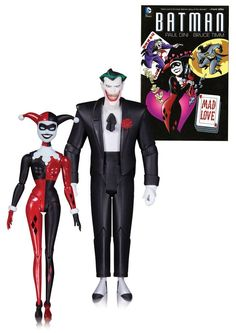 Batman The Animated Series Action Figure 2-Pack The Joker & Harley Quinn Mad Love