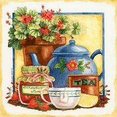 kitchen themed decoupage prints