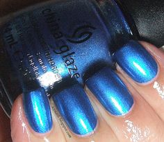 Icy Nails  China Glaze Blue Bells Ring