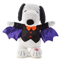 Snoopy the Bat Halloween Interactive Stuffed Animal; omg! I want this soo much!