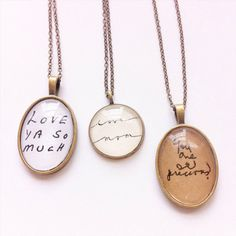 From a Loved One. Handwriting Memory Necklace. by hendersweet- would love something from mawmaw or dad