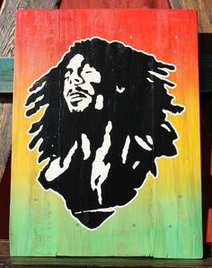 Bob Marley Upcycled Pallet Art. Pallet Wood by CryptobioticDesigns