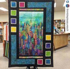 Quilt Pattern by Sweet Tea Girls Pattern. Panel quilt idea
