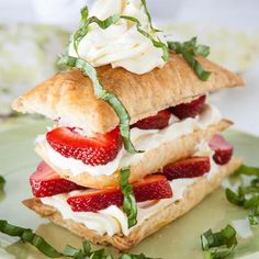 Easy Strawberry Basil Napoleons Recipe