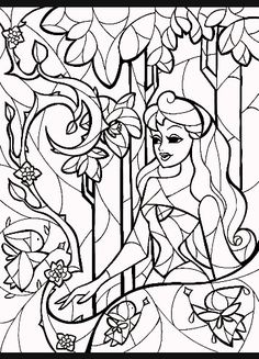 stained glass sleeping beauty coloring sheet by by mandiemanzano