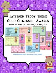 VERY CUTE PRINTABLE CITIZENSHIP AWARDS! JUST PRINT THEM OUT AND SIGN. THANKS FOR DOWNLOADING MY AWARDS PACKET! PLEASE BE SURE TO FOLLOW MY STORE FOR FUTURE NEW PRODUCTS AND FREEBIES. PLEASE LEAVE POSITIVE FEEDBACK IF YOU LIKE THE PRODUCT.