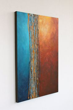 Intersection blue turquoise orange yellow rust brown by StudioZen