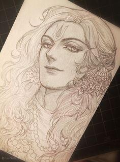 Shiva Art, Krishna Art, Hindu Art, Lord Shiva Painting, Krishna Painting, Portrait Sketches, Art Drawings Sketches Simple, Lord Krishna Hd Wallpaper, Indian Art Paintings