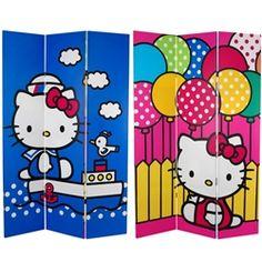 Hello Kitty 6ft room divider screen