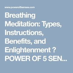 Breathing meditation is a simple yet powerful technique. Learn how many types of breathing meditation are, with instructions to make you enlightened. Atem Meditation, Breathing Meditation, Spiritual Enlightenment, Spirituality, Meditation Benefits, Pranayama, Free Books, Mindfulness, Learning