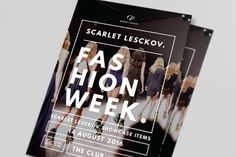 Catwalk Fashion Week Flyer by The Good Store. on @creativemarket