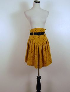 Vintage Retro Gold Scooter Skirt by CheekyVintageCloset on Etsy, $14.50