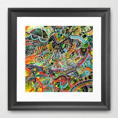 """grind"" Framed Art Print by Rachna Radar - $32.00"