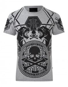 T-SHIRT PP78 Phillipp Plein, Jean Shirts, Casual Wear, Boutique, Squash, Skulls, Pattern, Mens Tops, T Shirt