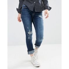 Ditto's Caitlin Midrise Skinny Jeans ($66) ❤ liked on Polyvore featuring jeans, darkvintagerep, ripped jeans, destroyed jeans, super ripped skinny jeans, torn jeans and mid-rise jeans
