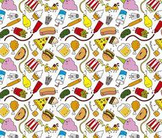 Junk food fabric by waffleme on Spoonflower - custom fabric