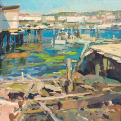 """""""Gloucester As She Is,"""" Charles Movalli, acrylic on canvas, 36 x 36"""", collection of the artist."""